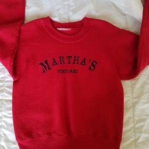 Red Martha Vineyards sweater